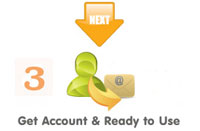 Step 3. Get Account & Ready to Use